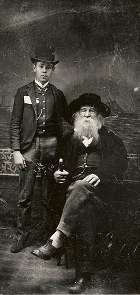 ZP_1886 photograph of Walt Whitman with Bill Duckett