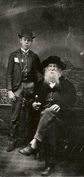 ZP_1886 photograph of Walt Whitman with Bill Duckett