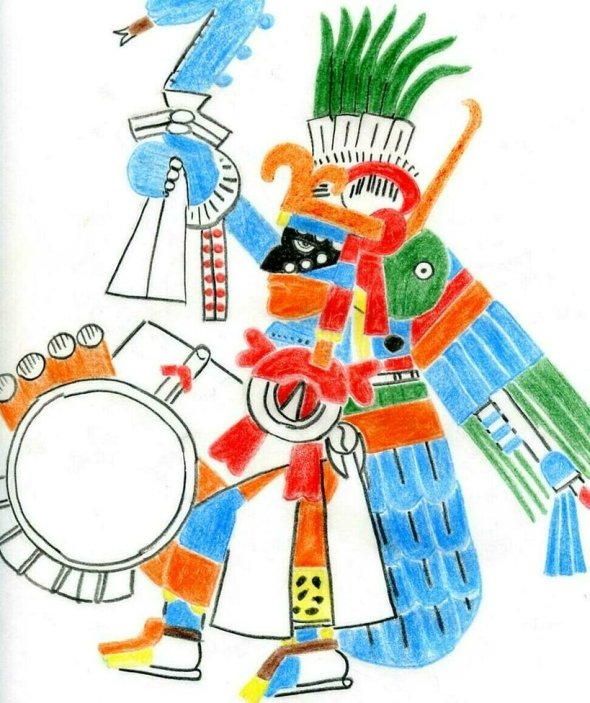 ZP_drawing of Huitzilopochtli by Ueuehualli_2009