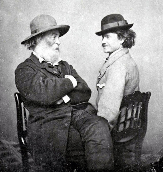 ZP_Walt Whitman with Peter Doyle who was quite possibly his lover_1869
