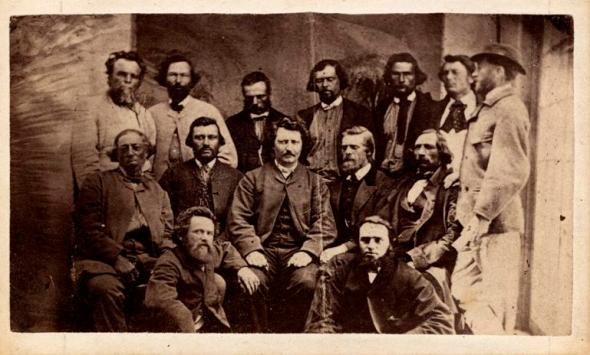 Louis Riel and his Council_1870