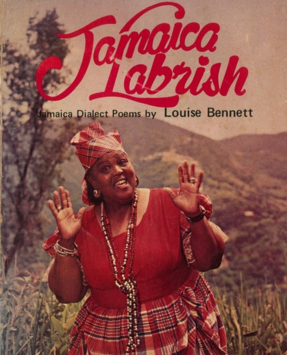 ZP_Louise Bennett's 1966 collection of Jamaican dialect poems_she is photographed as Miss Lou on the cover