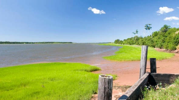 Hillsborough River near Charlottetown, Prince Edward Island_photo by Terry Danks