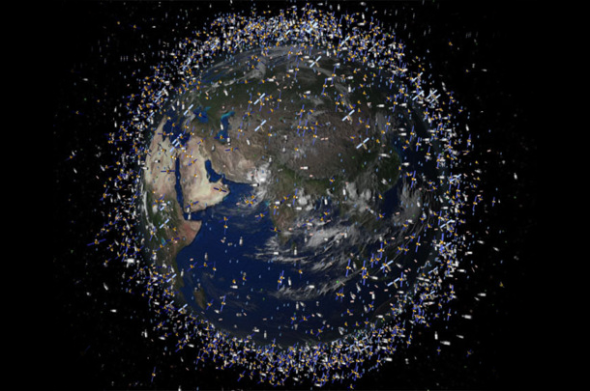 Planet Earth_and its near-Space debris
