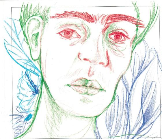 1.Drawing by a Toronto teenager_Frida Kahlo