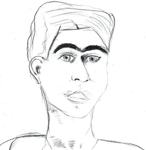 2.Portrait of Frida Kahlo by a teenager in Toronto