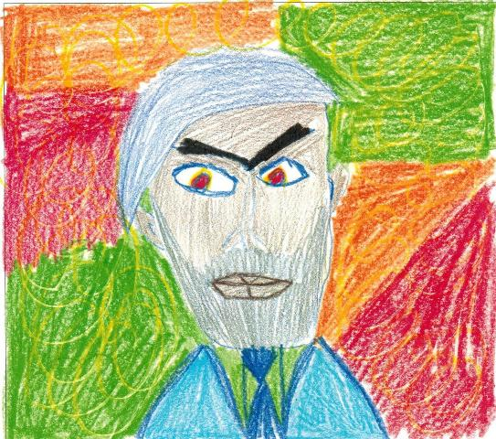 5.Frida Kahlo as drawn by a child in Toronto