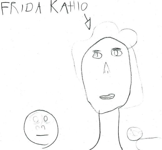 6.Frida Kahlo portrait by a Toronto child