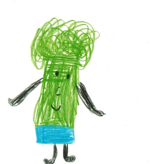 7.Frida Kahlo as drawn by a four year old in Toronto