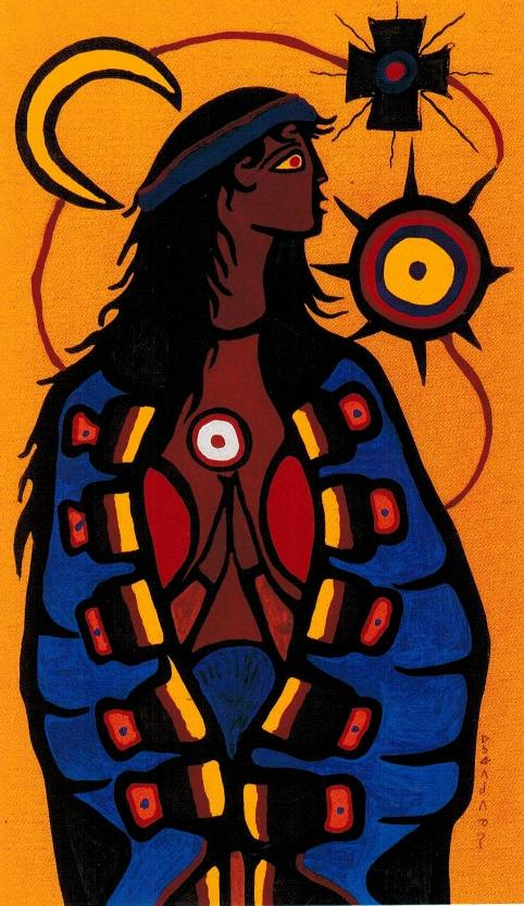 ZP_Mary_by Norval Morrisseau   ᐅᓴᐘᐱᑯᐱᓀᓯ born Beardmore Ontario 1932, died Toronto 2007_ Canada's greatest painter of the twentieth century_Norval Morrisseau fue el gran pintor canadiense del siglo XX