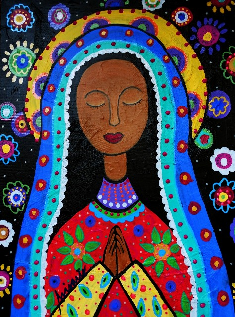 ZP_Pintura de Nuestra Señora de Guadalupe por Pristine Cartera Turkus