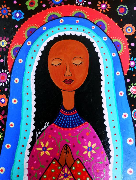 ZP_Nuestra Señora de Guadalupe_pintura por Pristine Cartera Turkus_de Prisarts