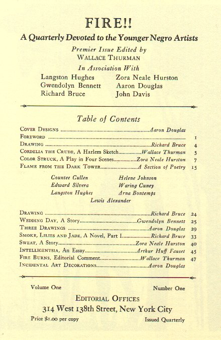 ZP_Fire!, the 1926 one-issue-only Harlem literary journal that shocked the Black middle-class