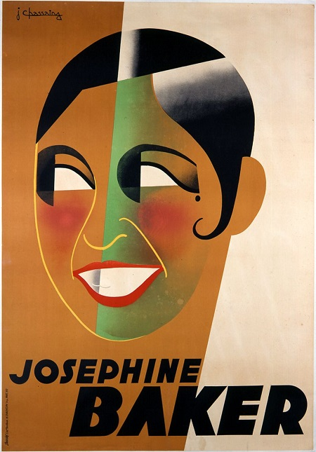 "Josephine Baker, née Freda Josephine McDonald, was born in St. Louis in 1906.  In 1921 she ventured to New York City, danced at The Plantation Club in Harlem, and became a popular and well-paid chorus girl in Broadway revues.  In 1925 she travelled to Paris where she wowed 'em with her athletic elegance and fresh humour.  Parisians were mad for all things ""Negro"" and ""Exotic"" so Baker shrewdly ""invented"" herself for France – yet somehow remained sincere and real.  She became a French citizen, spied on the Nazis for her government during WW2, raised a dozen adopted children – her rainbow tribe – and, from the 1950s onward, was a tireless campaigner for Civil Rights in the U.S.A.  She died peacefully in 1975 after having given a performance at the Bobino music-hall theatre in Montparnasse."