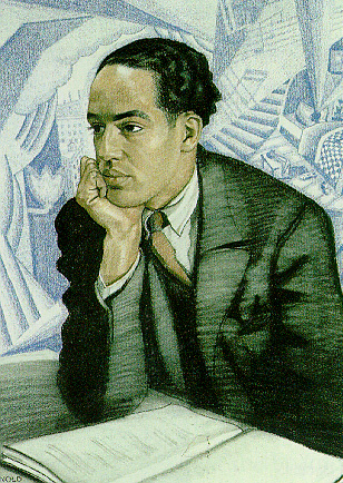 ZP_Langston Hughes_pastel drawing by Winold Reiss