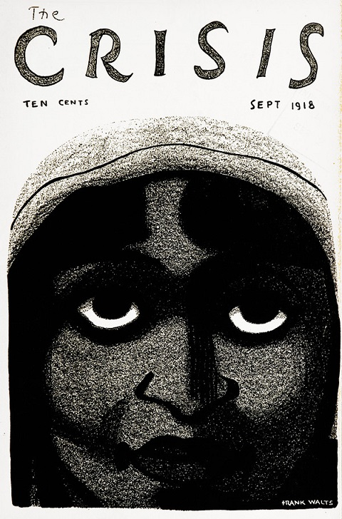 ZP_The Crisis -  A Record of the Darker Races, founded in 1910, was the National Association for the Advancement of Colored People's monthly journal. Edited by W. E. B. Du Bois, it featured, in a 1921 issue, the first published poem of a 19 year old Langston Hughes - The Negro Speaks of Rivers.