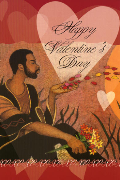 Contemporary Valentine card aimed at the Black American market