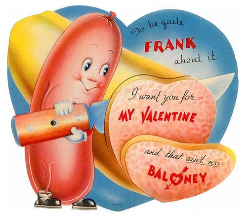 Vintage valentine_More punning and colloquialism in this Valentine card from the 1950s