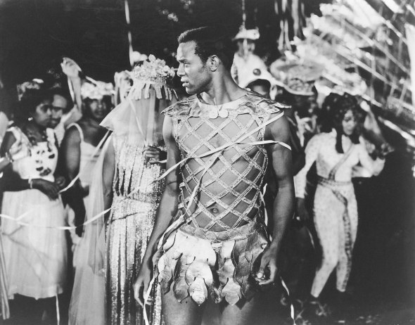 ZP_Breno Mello as Orpheus in the 1959 Marcel Camus film, Orfeu Negro_Mello was a soccer player whom Camus chanced to meet on the street in Rio de Janeiro.  He decided to cast the non-actor as the lead in the film.  Mello turned out to be exactly right for the role of the star-crossed Everyman enchanted by tricky Fate.