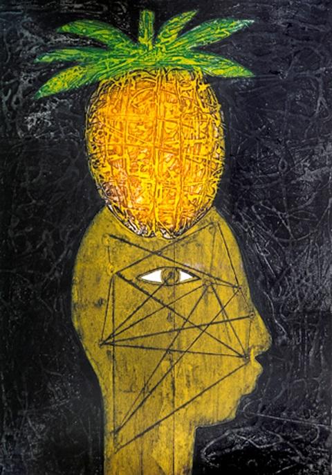 Z|P_Cabeza de piña por Eduardo Roca alias Choco_pintor cubano