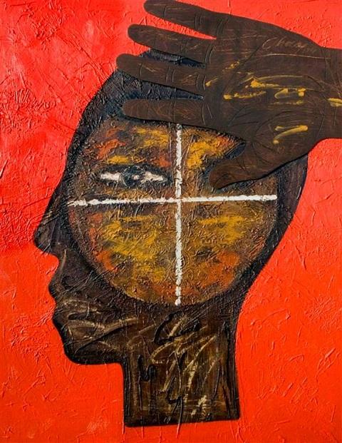 ZP_En la mira (In the cross-hairs)_Eduardo Roca (Choco)_pintor cubano