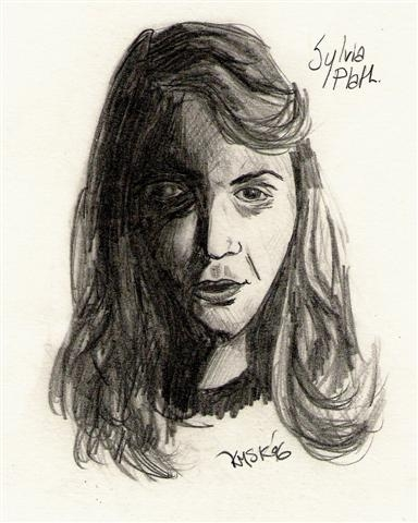 ZP_Portrait of Sylvia Plath_© IsMiseKate