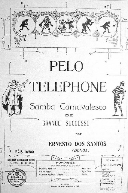 ZP_1917 sheet music for what is believed to be the earliest Samba carioca_Pelo Telefone