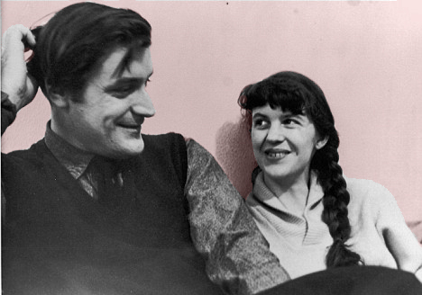 ZP_Sylvia Plath and Ted Hughes in 1956