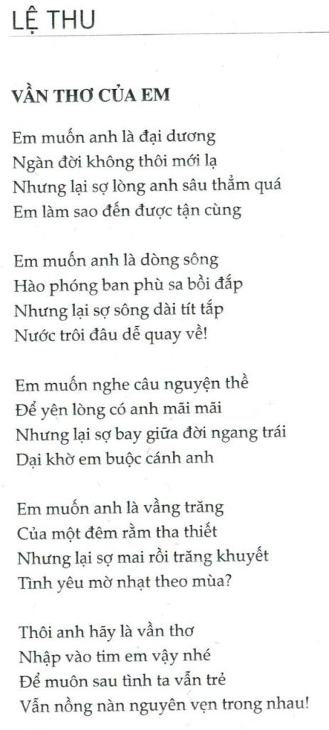 Le Thu_My poem