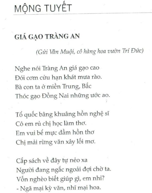 Mong Tuyet_The price of rice in Trang An