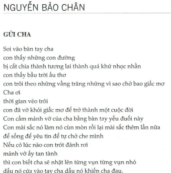 Nguyen Bao Chan_For my father