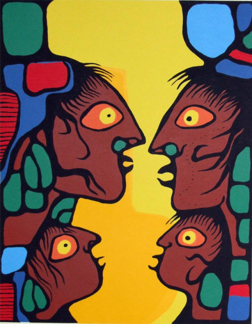 ZP_Norval Morrisseau, 1932-2007_Conversation, a serigraph from 1978