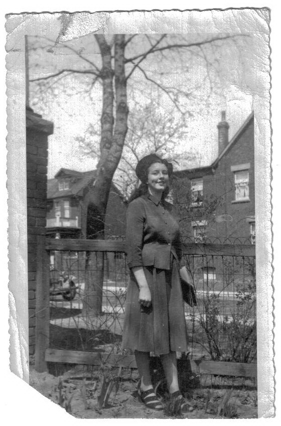 ZP_Eileen Thompson in 1948, not long after her arrival in Toronto from Belfast, Northern Ireland