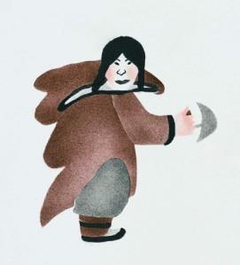 Woman Holding Ulu by Annie Pitsiulak_2001