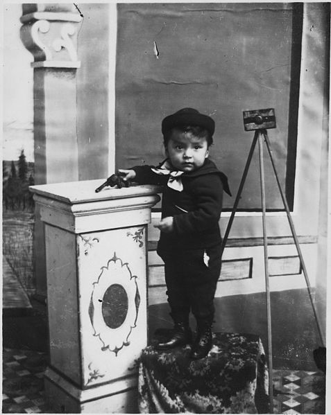 ZP_Indian boy with toy pistol_probably Benjamin Haldane the Tsimshian photographer