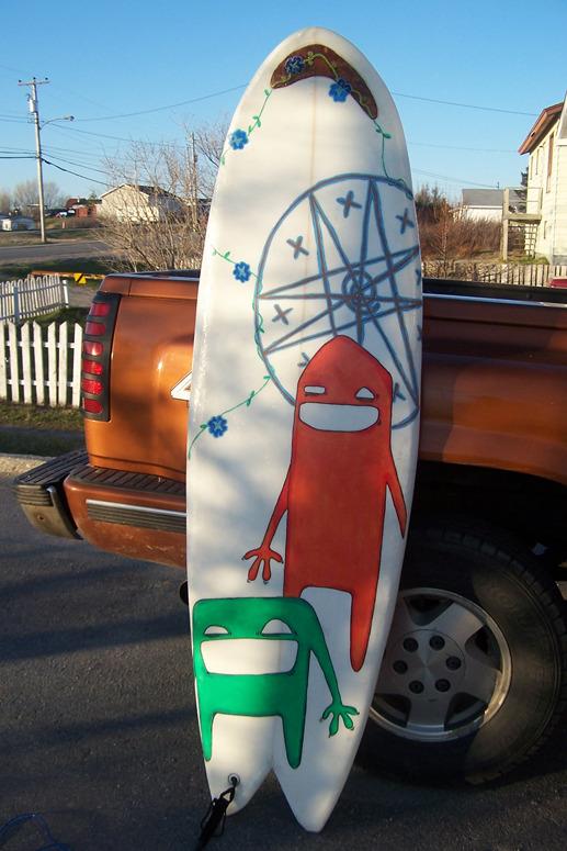 ZP_Jordan Bennett Mi'kmaw_Traditional Mi'kmaq Surfboard_2007