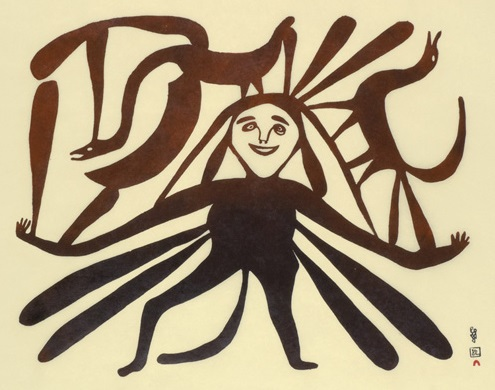 ZP_Mother Earth_stonecut from 1961 by Kenojuak Ashevak (1927-2013)