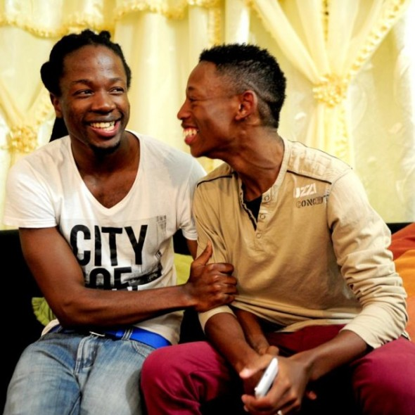 ZP_Two 27-year-old Zulu men, Thoba Sithole and Tshepo Modisane, married in the town of KwaDukuza in April 2013_South Africa legalized same-sex marriage in 2006.