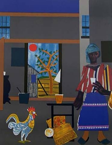 ZP_Romare Bearden 1911 - 1988_Morning of the Rooster_1980