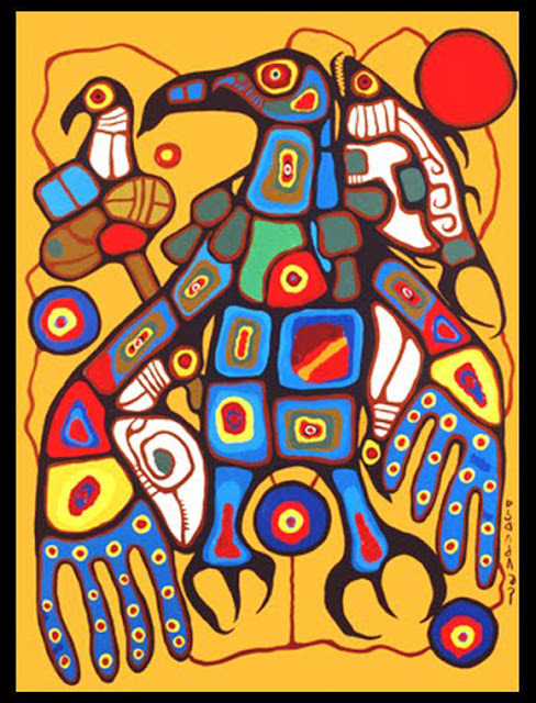 Norval Morrisseau_Man Changing into Thunderbird_1977_panel 6 of 6