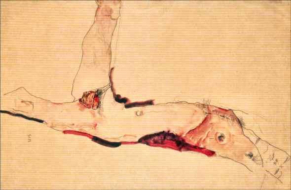 ZP_Egon Schiele_Reclining male nude_1911