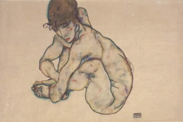 ZP_Egon Schiele_Sitzender weiblicher Akt_Female nude sitting_1914