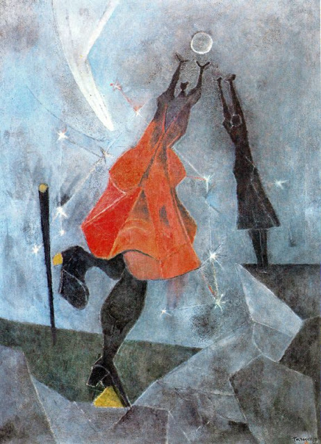 ZP_Rufino Tamayo_Mujer alcanzando la luna / Woman reaching for the moon_1946