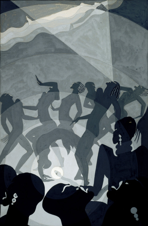 Aaron Douglas_Congo_1928_gouache and pencil on paperboard