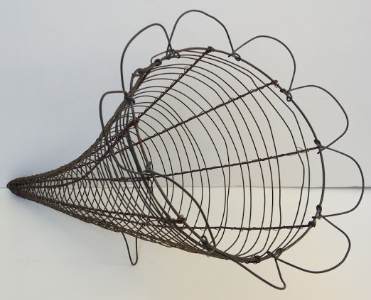Antique French Wire Horn of Plenty
