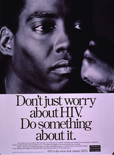 Poster aimed at helping people get past their fear of knowledge about HIV_USA, around 1990