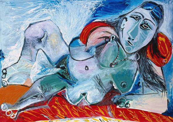 Femme nue au collier_Nude woman with necklace_Pablo Picasso, 1968
