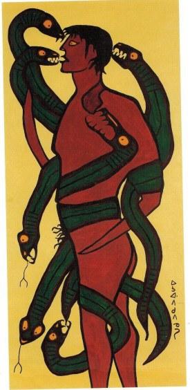 Norval Morrisseau_Autoretrato devorado por demonios_Selfportrait devoured by demons_1964