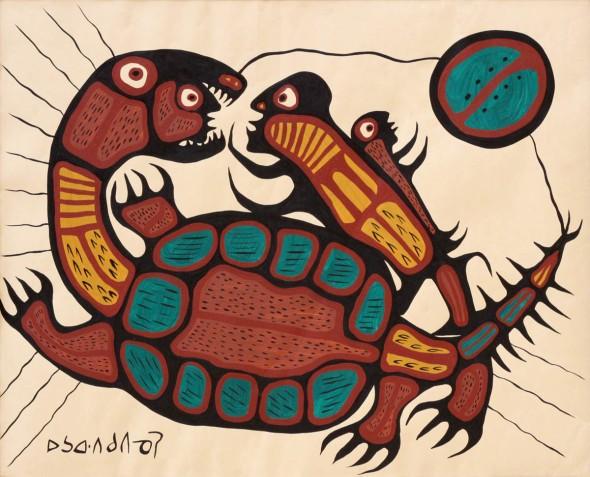 Norval Morrisseau_Creación  _Creation_1970