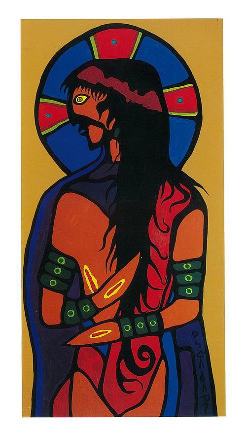Norval Morrisseau_Jesucristo el Indio_Indian Jesus Christ_1974